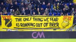 Veel NAC-supporters drinken bier tijdens de wedstrijden.
