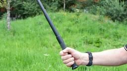 Een agent met een wapenstok (archieffoto: Karin Kamp).