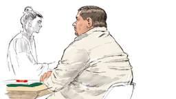 Alex S. in de rechtbank (tekening: Aloys Oosterwijk/ANP).