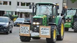 Protesterende boeren in het centrum van Breda.