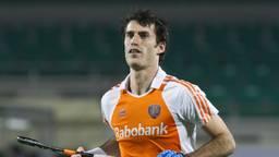 Marcel Balkestein in het shirt van oranje