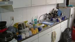 De keuken in een willekeurig studentenhuis.