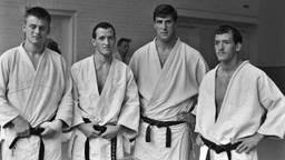 V.l.n.r.: Joop Gouweleeuw, Jan Snijders, Anton Geesink en Peter Snijders. (Foto: ANP)