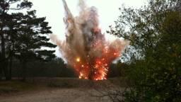 De springstof werd later tot ontploffing gebracht. (Foto: Archief)