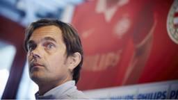 PSV-coach Phillip Cocu tijdens een persconferentie. (Foto: ANP)