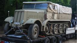 De FAMO werd gebruikt om beschadigde tanks van het slagveld te trekken. (Foto: Oorlogsmuseum Overloon)