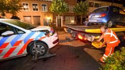 Beide auto's raakten beschadigd. (foto: Luuk Koenen / SQ Vision)
