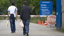Asielzoekers in het AZC in Budel (Foto: ANP)