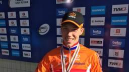 Godrie was blij met zijn bronzen medaille. (Foto: Job van der Zon)