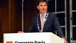De eerste toespraak van Paul Depla als burgemeester van Breda (foto: Perry Roovers/SQ Vision)