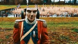 De soldaten van Waterloo staan er triest bij