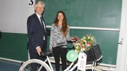 Angeliki Rama uit Griekenland is de 10.000e student op de TU/e. (foto: TU Eindhoven/John Claessens)