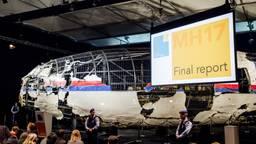 De reconstructie van toestel MH17 (foto: ANP)