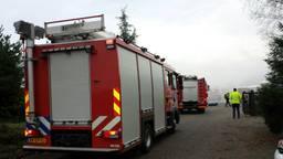 De brand zorgde voor veel rook.(Foto: Johan Bloemers/SQ Vision).