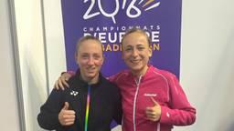 Eefje Muskens (links) en Selena Piek waren op dreef tijdens het EK. (Foto: Facebook Muskens/Piek).