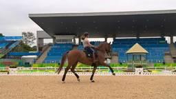 Sanne Voets op Demantur tijdens een training in Rio. (Foto: Facebook Sanne Voets)