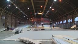 Parcours NK Skateboarding in aanbouw