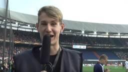 Willem Vink in de Kuip.