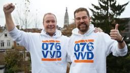 Bredanaars Thierry Aartsen (links) en Klaas Dijkhoff (rechts).