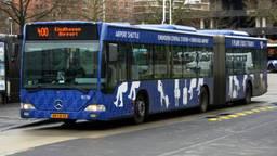 Een bus werd beschoten (archieffoto).