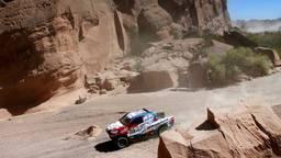Erik van Loon in actie tijdens de Dakar Rally (foto Willy Weyens)