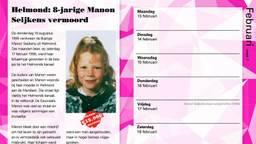 De zaak van Manon Seijkens staat ook op de kalender. (Foto: Politie)