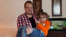 John viel het gewicht van zijn zoontje Sem af. (foto: John Broeke)