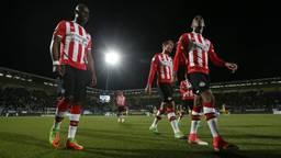 De spelers van PSV druipen af (foto: VI Images)