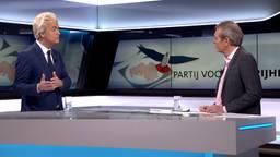 Geert Wilders in de studio van Omroep Brabant (foto: Omroep Brabant).