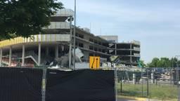De ingestorte parkeergarage bij Eindhoven Airport (foto: archief).