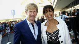 Addy en Sandra samen bij een concert van Barbra Streisand (foto: ANP).