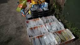 de drugs waren netjes verpakt (Foto:Marcel van Dorst  SQ Vision Mediaprodukties)