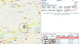 Het vliegtuig vloog ook boven Etten-Leur