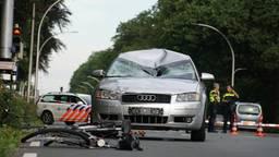 De fietsen lagen in stukken na het ongeluk (AS Media).