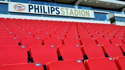 De Zuidtribune van het Philips-stadion