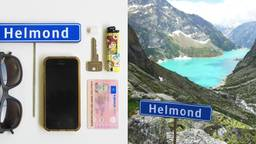 Het kleine naambordje gaat met de Helmonders mee op vakantie. (Foto: Rocco Verdult)