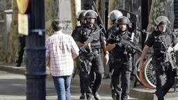 Veel politie op de been in Barcelona.