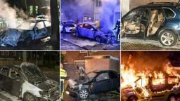 Een aantal van de recente branden in Tilburg