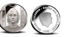 Het Johan Cruijff Vijfje van muntontwerper Hennie Bouwe