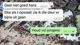 Stiefvader Hans probeert Kevin via WhatsApp door orkaan Irma te helpen