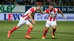 Huseyin Dogan en Fatih Kamaçi van FC Oss. (foto: OrangePictures)