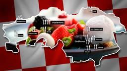 De locaties van de hoogst genoteerde Brabantse Resturants