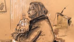 Aydin C. in de rechtbank (foto: Omroep Brabant).