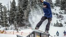 Niek van der Velden in actie. (Foto: Facebook Nederlandse Skivereniging)