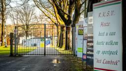 Het sportpark van RKSV Heeze, een van de getroffen clubs (foto: Rob Engelaar).