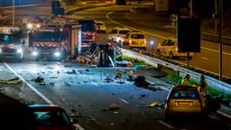 Het ongeluk op de A73 (Foto: Etienne Zegers).