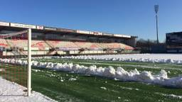 FC Oss had vorig seizoen ook last van de sneeuw (foto: FC Oss).
