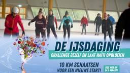 Tijdens de Ijsdaging schaatsen mensen 10 kilometer om geld op te halen voor het Rode Kruis