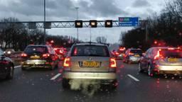 File op de A2 Den Bosch richting Eindhoven (Archieffoto: Renzo Veenstra).