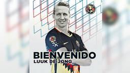 De photoshop van Luuk de Jong in het shirt van Club América gaat veel rond op Twitter